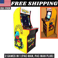 Arcade1Up Pac-Man Arcade Machine 2 Games in 1 w/Riser Coinless operation New