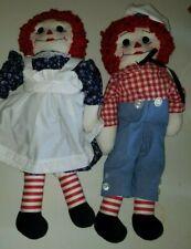 Vintage Set of Raggedy Ann & Raggedy Andy