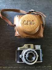 Vintage CMC HIT Miniature/Subminiature Camera Black Original Leather Case Japan
