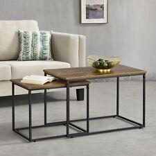 [en.casa] Couchtisch Wohnzimmertisch Sofatisch Beistelltisch Tisch 2er-Set Holz