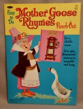 1965 MOTHER GOOSE RHYMES PUNCH-OUT Book - WHITMAN - RARE UNCUT ORIGINAL