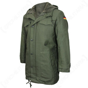 NEW Repro Olive German Army Parka with Liner Warm Winter Jacket Bushcraft Casual