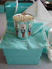 TIFFANY sterling silver enamel ~ BABY CHILD CUP 'TOY SOLDIERS' ~ RARE&FABULOUS!!