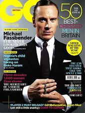 GQ UK 2/2014 MICHAEL FASSBENDER 50 Best Dressed Men MARGOT ROBBIE Kate Mara @NEW