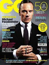 GQ UK 2/2014 MICHAEL FASSBENDER 50 Best Dressed Men MARGOT ROBBIE Kate Mara @NEW