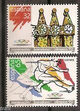 Spain  Edifil # 2908/2909 ** MNH Set  Olimpiada Barcelona 92 / sports