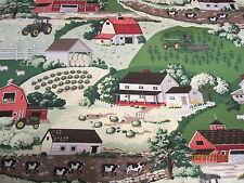 John Deere  baby toddler sheets set farm scene cows barns sheep