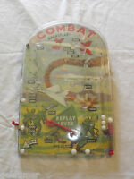 VINTAGE ROCKET PLANES TOY 1950S BAGATELLE   PIN BALL GAME COMBAT