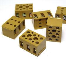 6x Weidmüller-Klemme BK3, 3-polig, Edel-Lüsternklemmen, 4 qmm, 10A, NOS