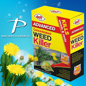 Strong Weedkiller Doff Advanced Extra Tough Concentrate Kills Weeds Brambles Ivy