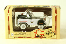 Die Cast Pedal Power 1:10 Scale Police  black & white By Golden Wheel MIB