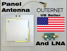 OUTERNET L-Band LNA & Air Gap Patch Antenna RHCP 1525 - 1559 MHz 8 dBi 4in SMA
