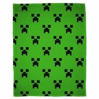 Minecraft Kriecher Smaragd Fleece Decke Kinder 100cm x 150cm