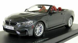 Paragon 1/18 Echelle - BMW M4 Convertible Minéral Gris Voiture Miniature
