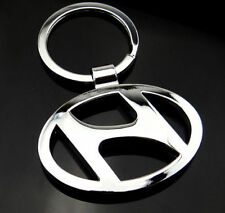 Car Logos 3D Chrome Titanium Metal Alloy Keyfob Keyring Keychain Hyundai