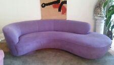 Mid Century Modern Vladimir Kagan Directional Cloud Couch Sofa Eggplant Purple