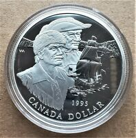 Canada $1 Sterling Silver Coin, 325th Anniversary of The Hudson's Bay Co. (1995)