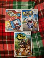 Nintendo Wii Rayman Raving Rabbids TV, Travel in Time & Rabbids 2 NICE DISCS