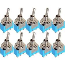 Useful 10pcs Mini MTS-102 3-Pin SPDT ON-ON 6A 125VAC Miniature Toggle Switches