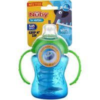Nuby Grip N Sip Super Spout Sippy Cup with Handles, 4m+, 8 oz