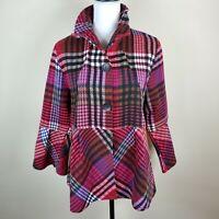 Damee Peplum Jacket Coat Bell Sleeves Lightweight Women's Size L NWT