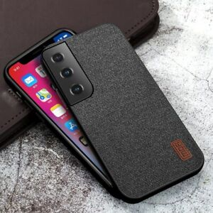 For Samsung Galaxy S21 / S21 Plus S21 Ultra Cover Luxury Textile Case NEW Coffee
