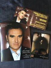 Morrissey's Meltdown 2004 TOUR PROGRAMME & PROMO Post Cards Morrissey The Smiths