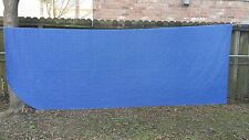 VINTAGE BLUE PLAID RIP CORD(?)  DOUBLE BEDSPREAD  FREE SHIPPING