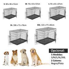 Jaula de Transporte para Perro en 5 Medias y 2 colores de Acero + Cojín Opcional