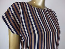 CLASSIC SPORTSCRAFT STRIPED TUNIC TOP BLOUSE SHIRT -  RETRO COLOURS 8