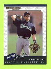 """2001 DONRUSS ICHIRO SUZUKI """"BASEBALLS BEST BRONZE"""" RATED ROOKIE #/999"""