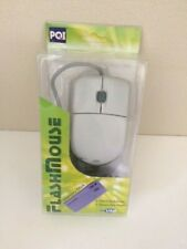 New in Box PQI Flash Mouse Optical Scroll Mouse Memory Stick Reader