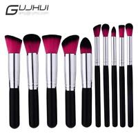 10Pc Makeup Brushes Set Tool Cosmetic Eyeshadow Face Powder Foundation Lip Brush