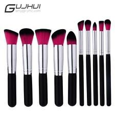 10Pc Makeup Brushes Set Tool Cosmetic Eyeshadow Face Powder Foundation Lip Brush