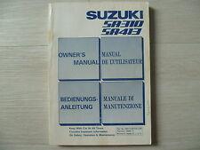 Betriebsanleitung Handbuch Bordbuch Suzuki Swift SA310 / SA413 1986 - 1989