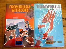 ~JAMES BOND CLASSIC LIBRARY x 2-IAN FLEMING-FROM RUSSIA WITH LOVE, THUNDERBALL~