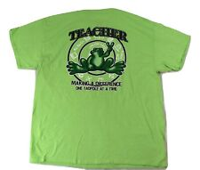 Peace Frogs Mens Teacher Making A Difference One Tadpole Shirt New M, Xl, 2Xl