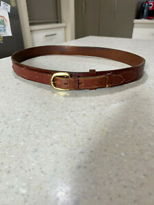 RM Williams Ranger Brown Leather Belt 34 / 86cm  Cowhide Leather 432