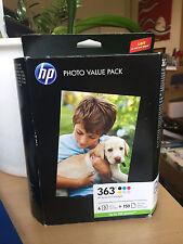 Original Tintenpatrone HP 363 Value Set Inks+ Photo Paper 150x 10x15, Q7966EE