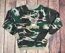 Vintage Buck Fever Camo Hunting Sweatshirt Mens M