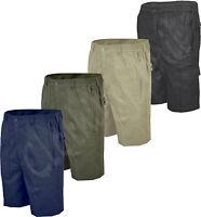 Mens Plain Casual Summer Elasticated Walking Action Shorts Big Size 32-48