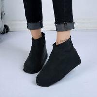 Reusable Durable Rubber Rain Boot Shoe Covers Outdoor Anti-slip Overshoe Cover