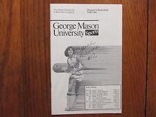 1983 George Mason Womens Basketball Program(12 Sign/JEANNE DAUNORAS/PATTY AMIDON
