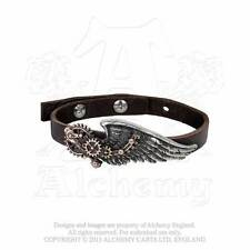 Alchemy Gothic A100 Steampunk Technicians Wrist Strap Wings Gear Leather
