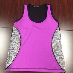 Take A Walk Athletic Shirt Woman's Size Large Purple & Black