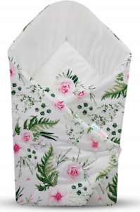 BABY SWADDLE WRAP NEWBORN BLANKET COTTON SLEEPING BAG Garden flowers