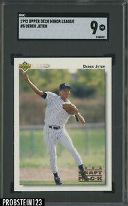 1992 Upper Deck Minor League #5 Derek Jeter RC Rookie HOF SGC 9 MINT