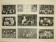 1903 Imprimé Article Comté Cricket Jessop JACKSON Nottingham Team Philadelphian