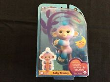 WowWee Fingerlings Baby Monkey Candi - Pink with Blue Accents