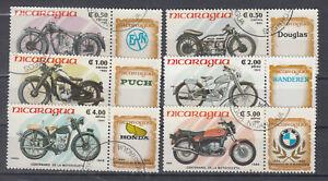Nicaragua Briefmarken 1985 Motorräder Mi 2568-73 gestempelt
